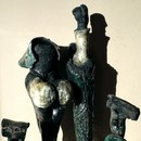 Sculpture Maryse Houdy, Famille